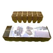 Torfowe doniczki kwadratowe 5x5cm 60 sztuk Jiffy
