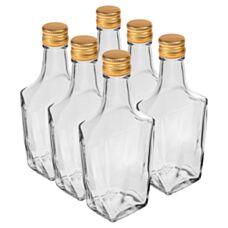 Butelka Art Deco 250 ml z zakrętką 6 sztuk Biowin