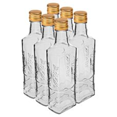 Butelka Flora 250 ml 6 sztuk z zakrętką Biowin