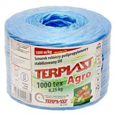 Sznurek TEX 1000 dł. 250 mb - niebieski TERPLAST