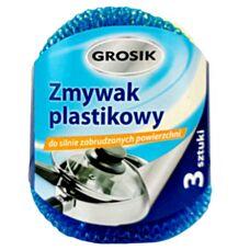 Zmywak plastikowy 3 szt Grosik