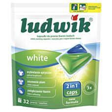 Ludwik Kapsułki do prania White 2in1 32 sztuki Inco
