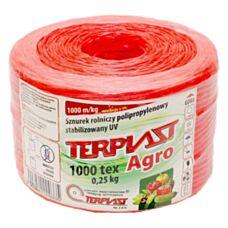 Sznurek TEX 1000 dł. 500 mb - czerwony TERPLAST