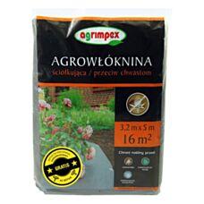Agrowłóknina ściółkująca Agrimpex przeciw chwastom 1,6mx10 m + 18 szpilek GRATIS Agrimpex