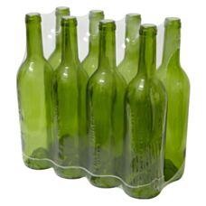 Butelka na wino 0,75 L oliwkowa 8 sztuk Biowin