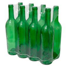 Butelka na wino 0,75 L zielona 8 sztuk Biowin