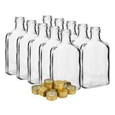 Butelka piersiówka na nalewki z zakrętką 200 ml 10 szt. Biowin BUAPZ100,2