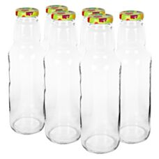 Butelka z zakrętką TO 750 ml fi 43 6 sztuk Biowin 134750