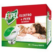 Elektrofumigator + płyn na komary 60 nocy Expel