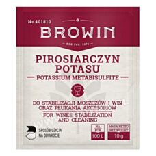 Do stabilizacji nastawów i win oraz dezynfekcji Pirosiarczyn potasu 10g Biowin