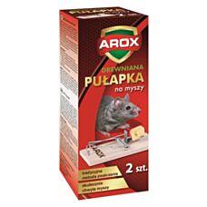 Drewniana łapka na myszy 2 sztuki Arox