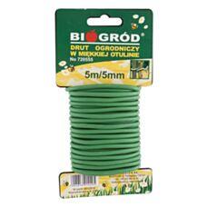Drut ogrodniczy w miękkiej otulinie 5mx5mm Biowin 720555
