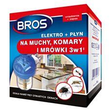 Elektrofumigator + płyn na muchy, komary, mrówki Bros