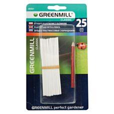 Etykiety plastikowe z ołówkiem 25 sztuk Greenmill GR5021