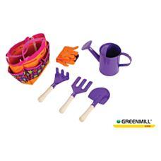 Zestaw narzędzi dziecięcych 6 elementów Greenmill GR0139