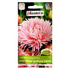 Aster chiński igiełkowy wysoki różowy 1g PlantiCo