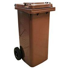 Kosz na odpady na kółkach 120L BIO brązowy EKO EWRO