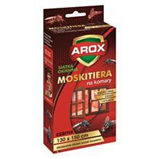 Moskitiera okienna czarna 130x150cm Arox