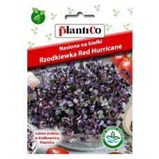 Nasiona na kiełki Rzodkiewka czerwona Red Hurricane 10g PlantiCo