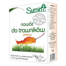 Nawóz do nawożenia trawników jesienny 1kg SUMIN