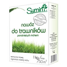 Nawóz do trawników porośniętych mchem 1kg SUMIN