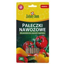 Pałeczki nawozowe do pomidorów, papryki i ogórków 20 sztuk Zielony Dom