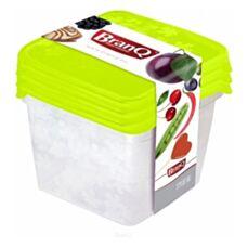Pojemniki plastikowe na żywność rukkola kwadrat 3szt. mix BRANQ