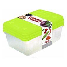 Pojemniki plastikowe na żywność Rukkola prostokątnemix 3szt. BRANQ