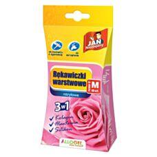 Rękawice warstwowe różowe rozmiar M 10szt