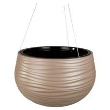 Doniczka wisząca Sahara BALL fi30 taupe+wkład Formplastic 3150