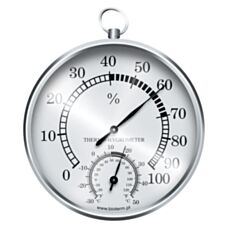 Stacja pogody – termometr/higrometr srebrna 92209 Biowin