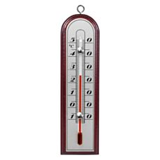 Termometr pokojowy drewniany srebrna skala Biowin 010701