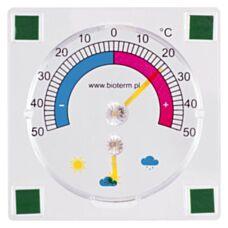 Termometr przyklejany bimetaliczny zaokienny biały 24800 Biowin