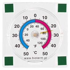 Termometr zewnętrzny przyklejany bimetaliczny 77/77 mm Biowin 25000