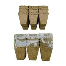 Torfowe doniczki kwadratowe 6x6cm 30 sztuk Jiffy