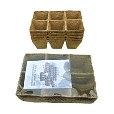 Torfowe doniczki kwadratowe 8x8cm 30 sztuk Jiffy