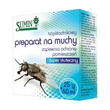 Trójskładnikowy preparat na muchy 25g+60ml Sumin