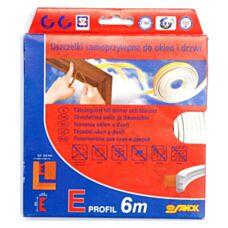 Uszczelka GE 1 guma 6 mb Typ E - biała Stomil Sanok