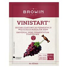 Zestaw startowy do wina drożdże + pożywka 34g Vinistart Biowin