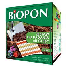 Zestaw do badania ph gleby 10 sztuk BIopon