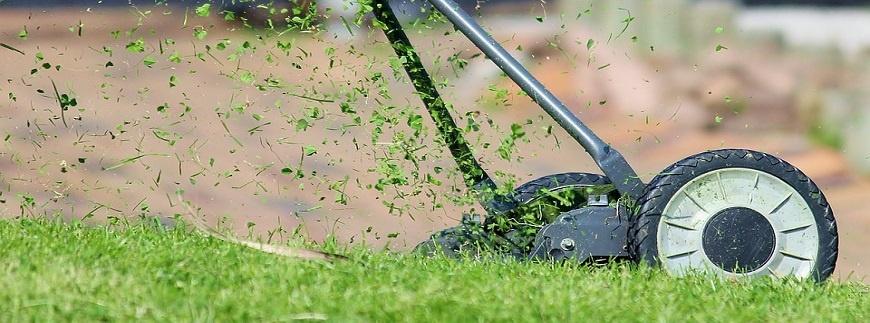 Ostatnie koszenie trawnika przed zimą