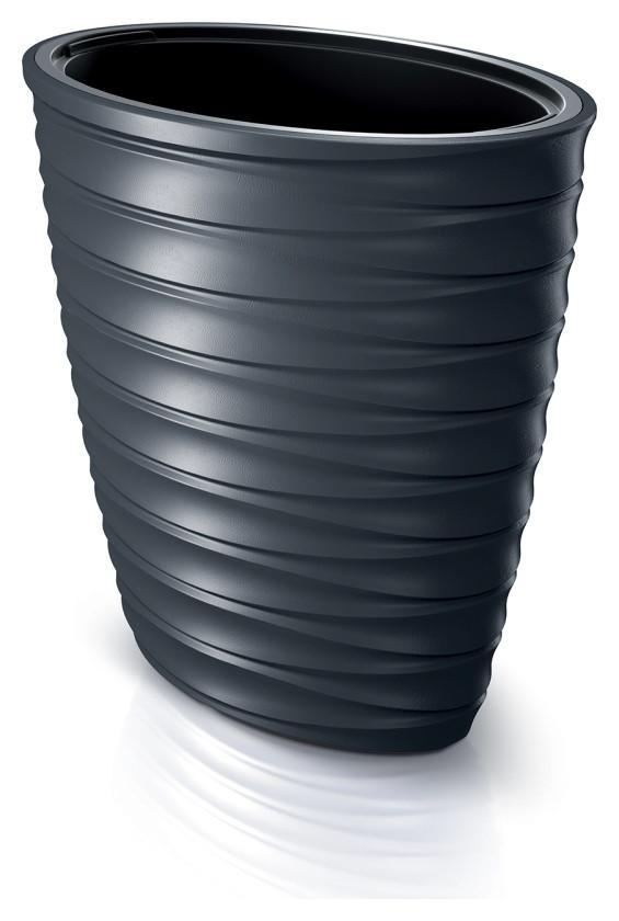 Doniczka Freze owalna DPFEE600 Prosperplast antracytowy - grafika producenta